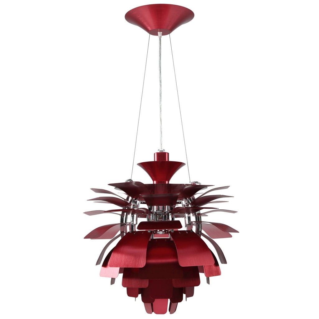Red Icon Chandelier Detail 1