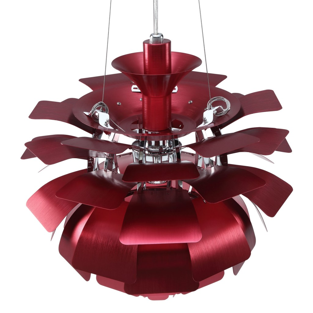 Red Icon Chandelier Detail 3
