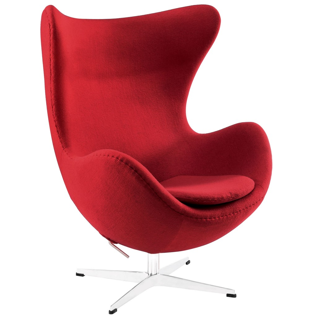 Red Magnum Wool Chair