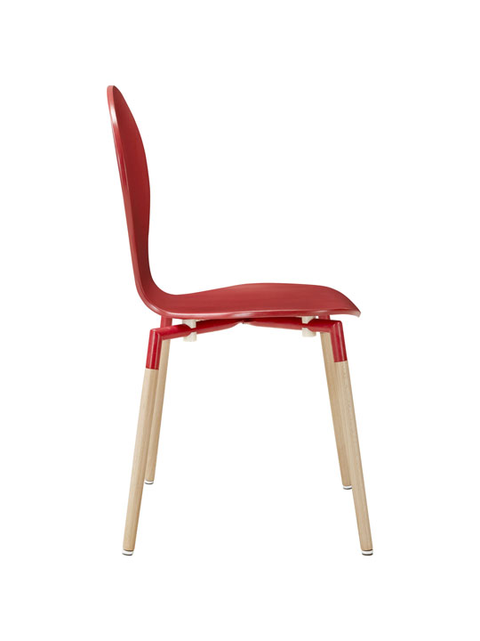 Red Ombre Wood Chair 2