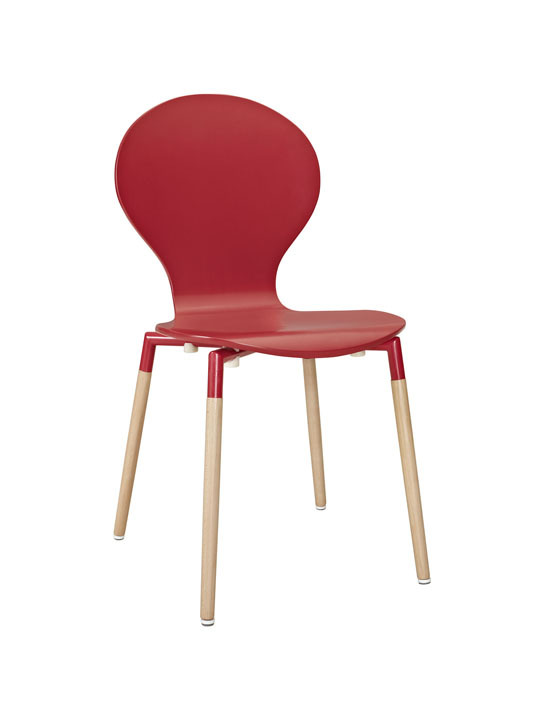 Red Ombre Wood Chair