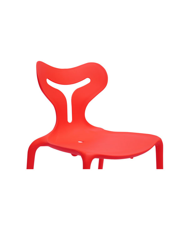 Red Plastic Y Chair