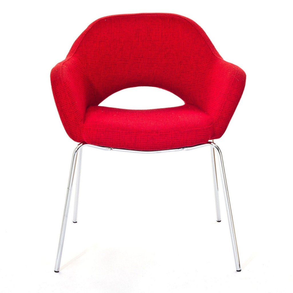 Red Solid Armchair