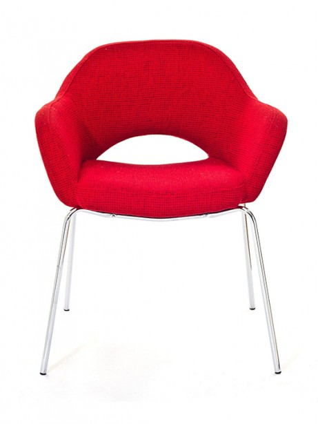 Red Solid Armchair2 461x614