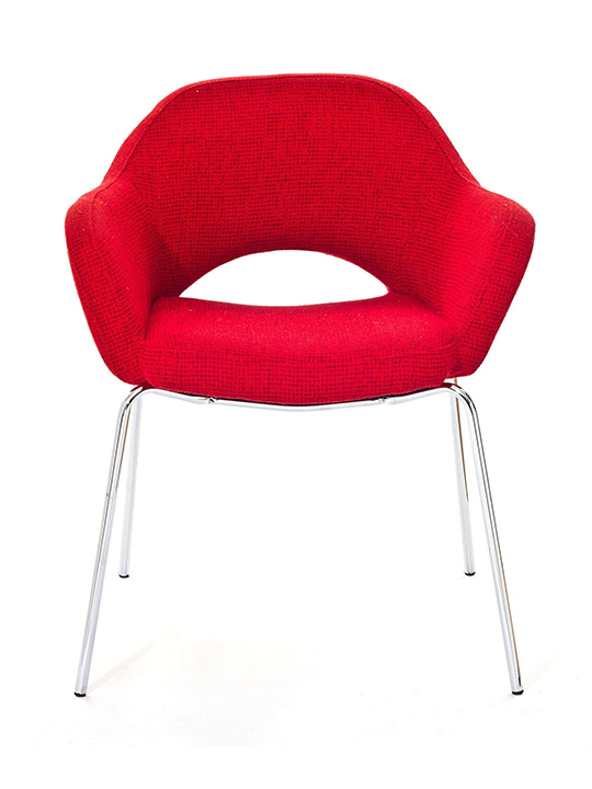 Red Solid Armchair2