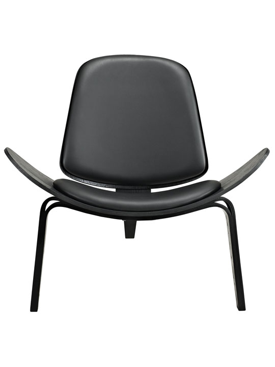 SLS Chair Black Wood Black Cushion 1