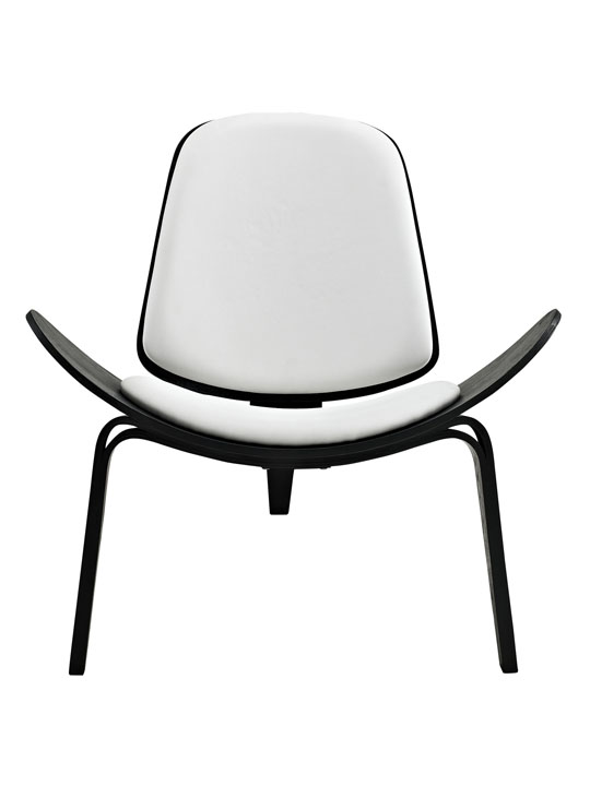 SLS Chair Black Wood White Cushion 2