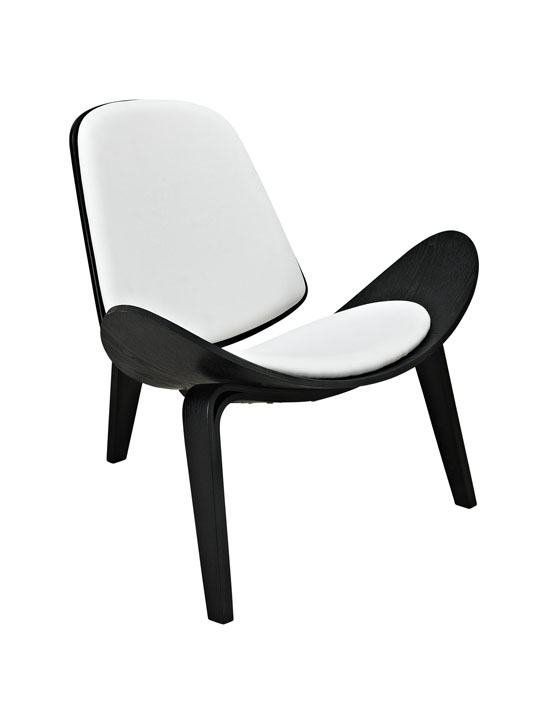 SLS Chair Black Wood White Cushion