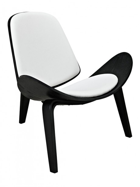 SLS Chair Black Wood White Leather 461x614