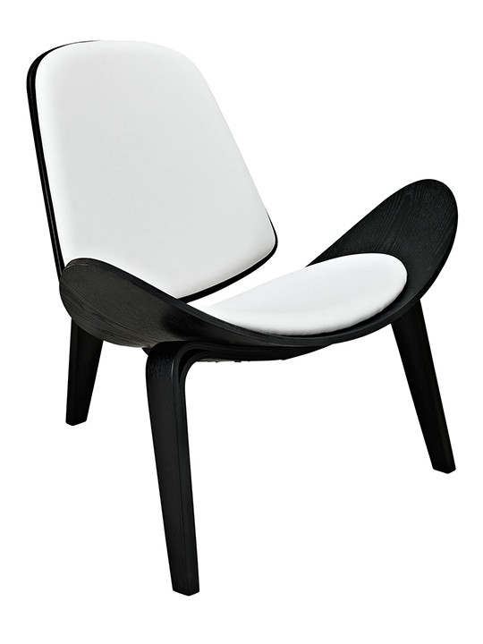 SLS Chair Black Wood White Leather
