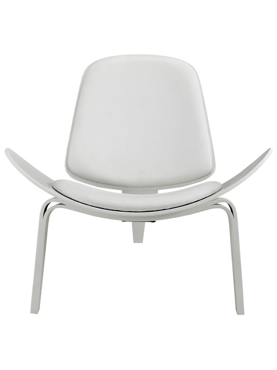 SLS Chair White Wood White Cushion 2