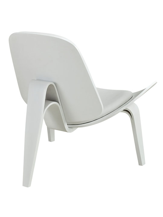 SLS Chair White Wood White Cushion 4