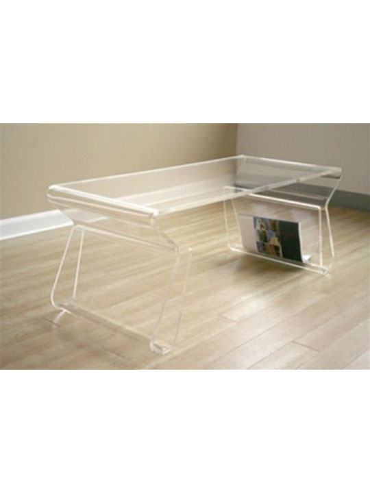 Invisible Coffee Table Brickell Collection Modern Furniture - Invisible coffee table