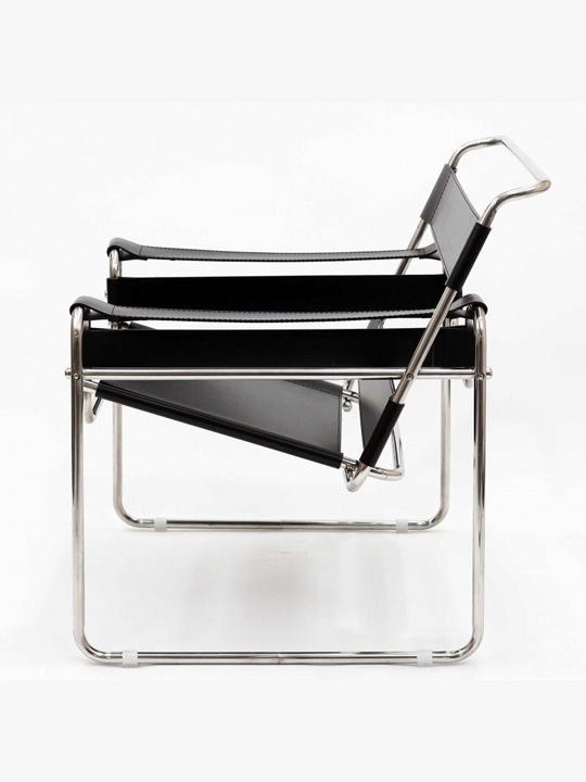 Leather Strap Chair Brickell Collection Modern Furniture