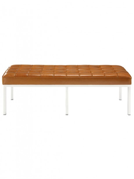 Tan Leather Large Gallery Bench 2 461x614