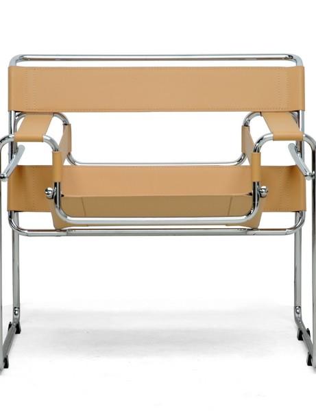 Tan Leather Strap Chair 2 461x600