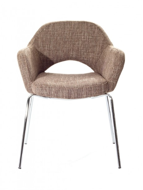 Taupe Solid Armchair 461x614