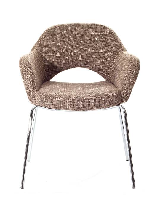 Taupe Solid Armchair