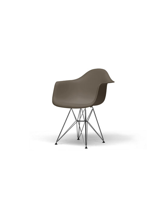 Taupe Wire Base Armchair