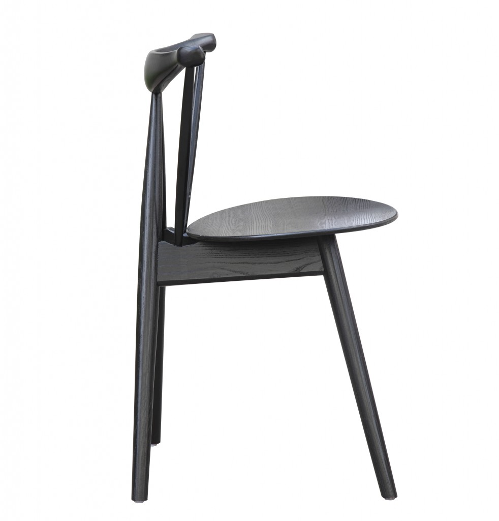 Triangle Chair Black Wood 3