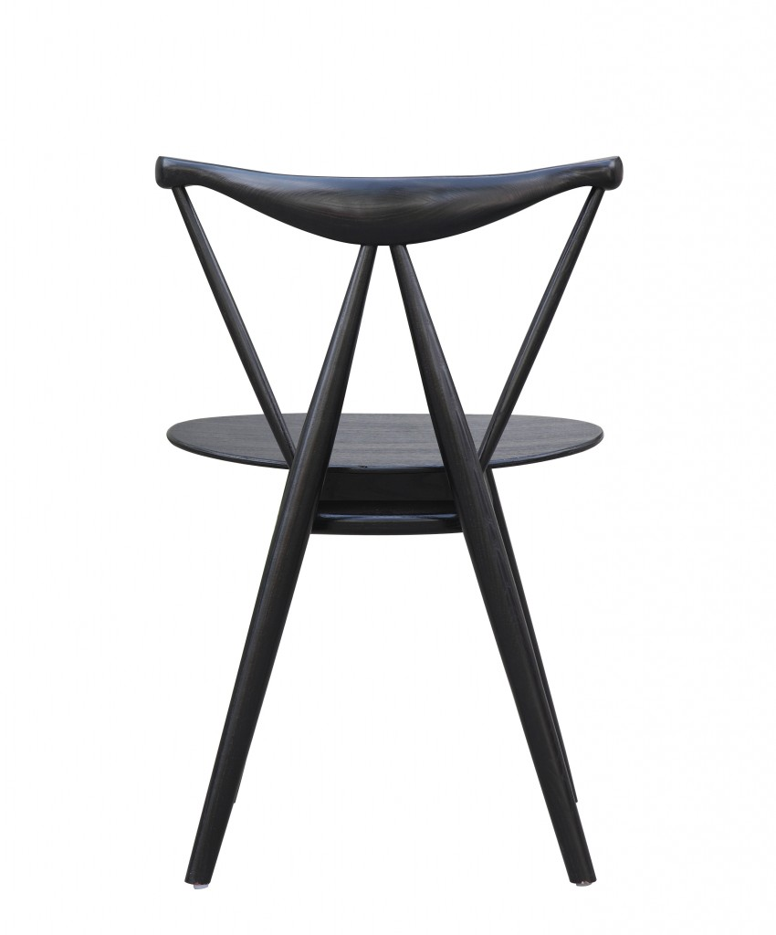 Triangle Chair Black Wood 6