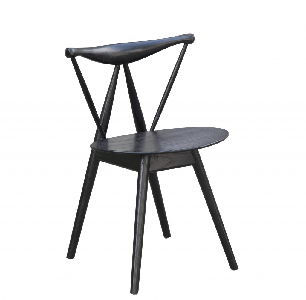 Triangle Chair Black Wood 7