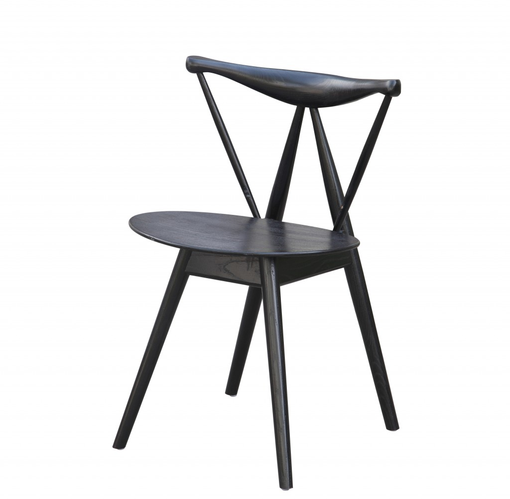 Triangle Chair Black Wood 8
