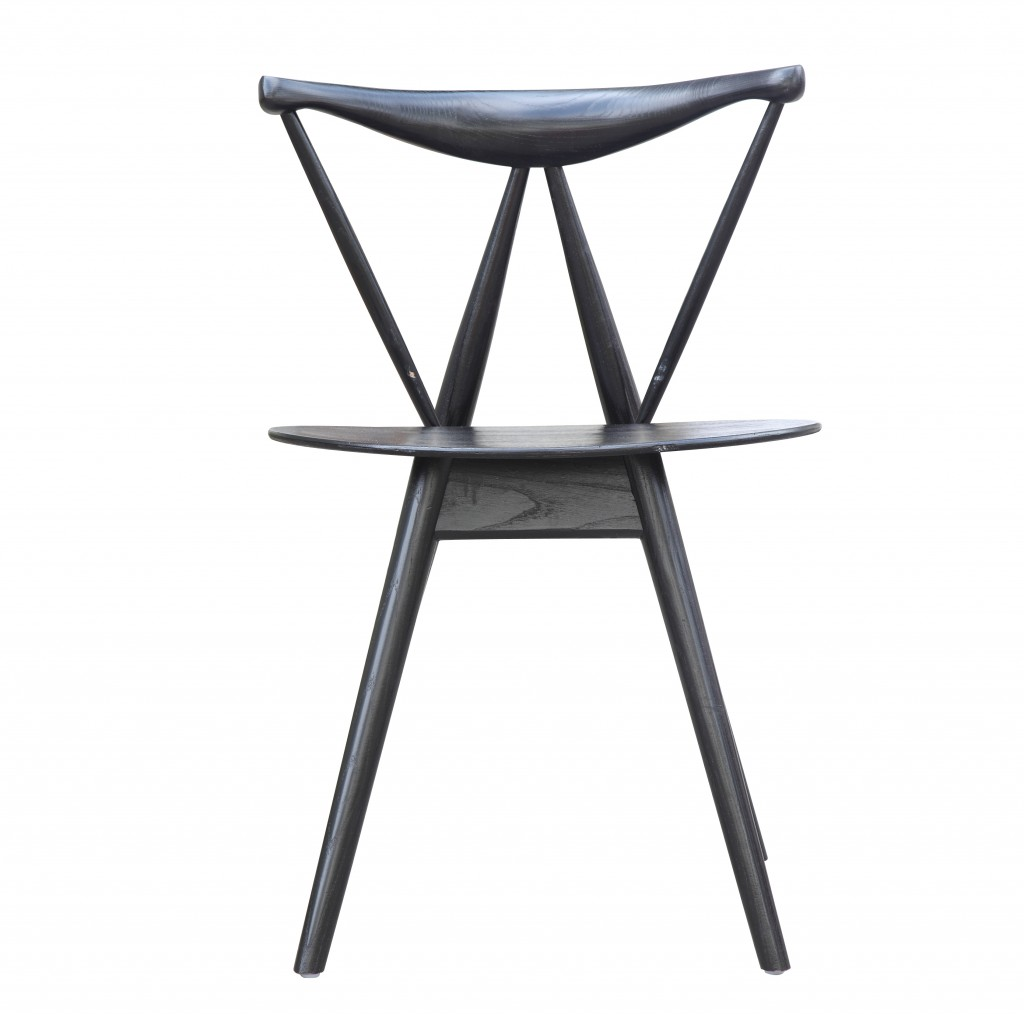 Triangle Chair Black Wood