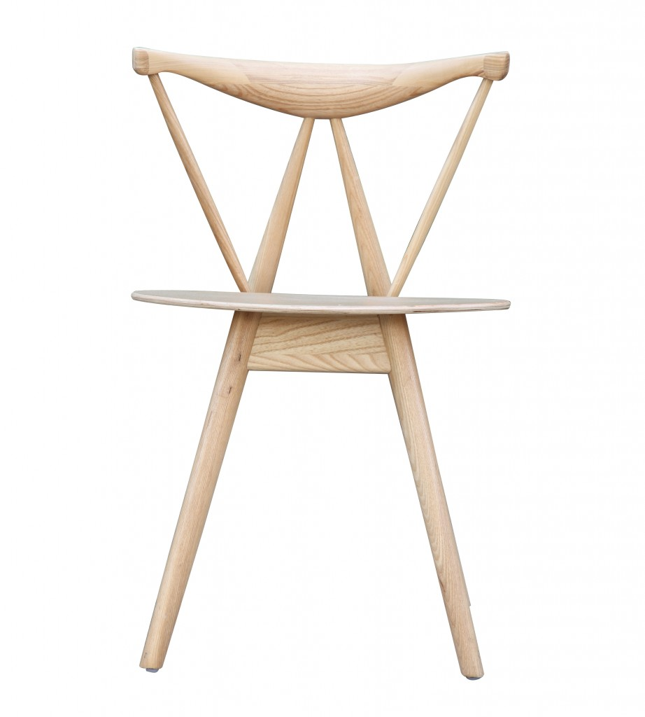 Triangle Chair Natural Wood 4