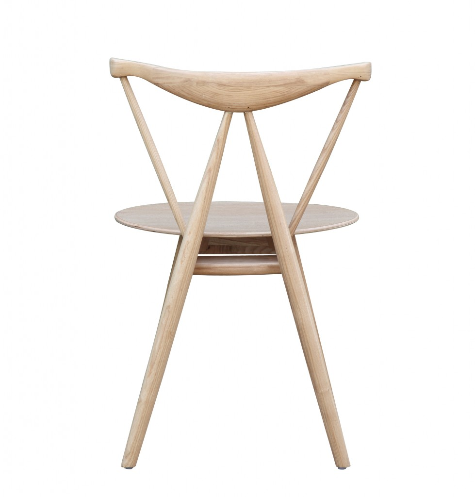 Triangle Chair Natural Wood 6