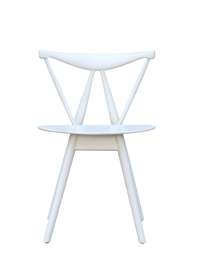 Triangle Chair White Wood 2
