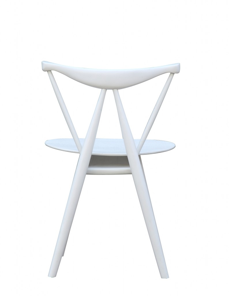 Triangle Chair White Wood 4