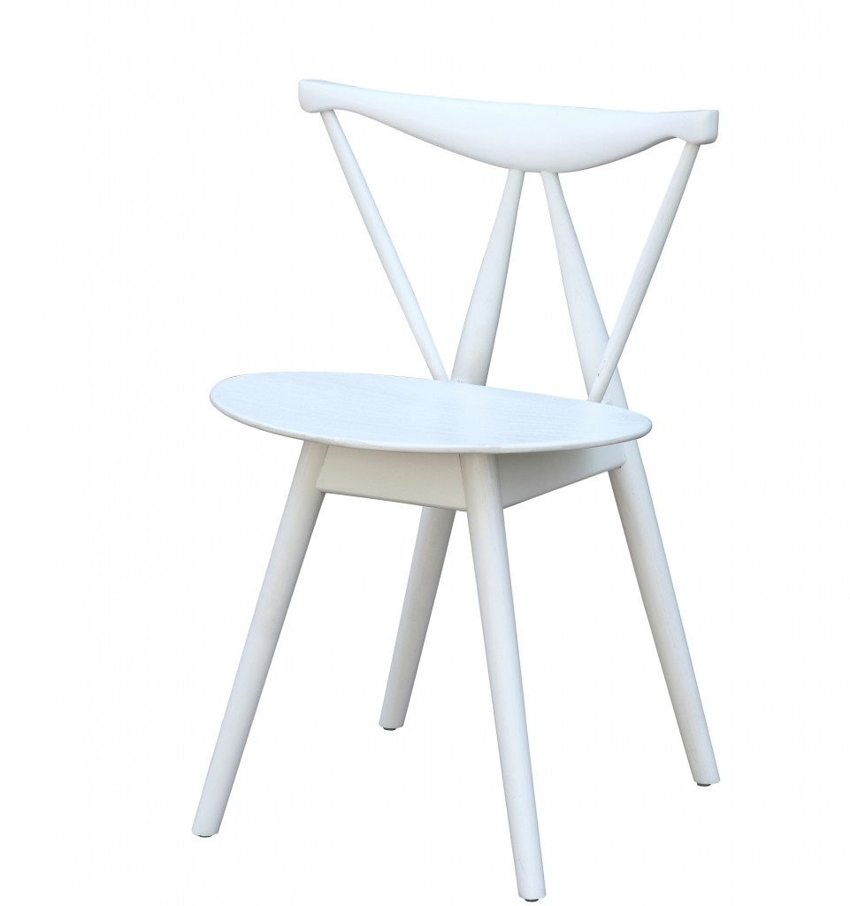 Triangle Chair White Wood 5
