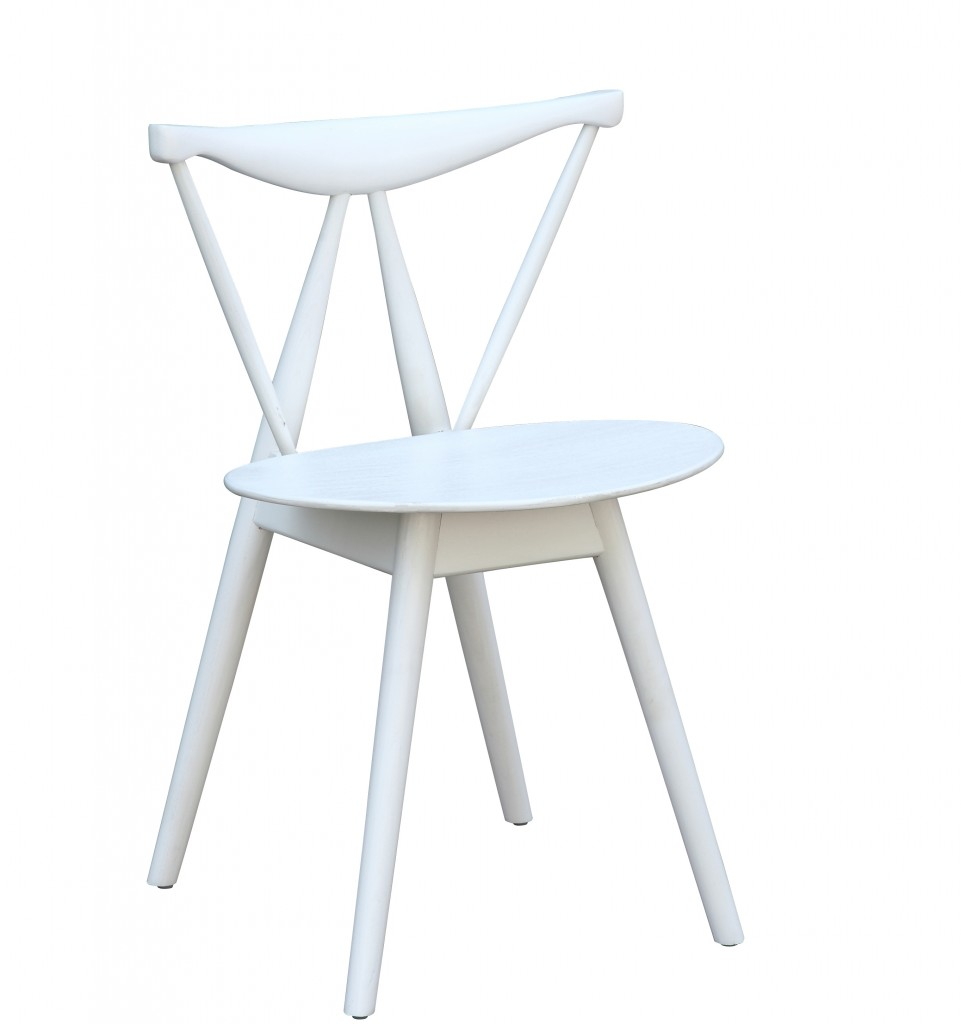 Triangle Chair White Wood