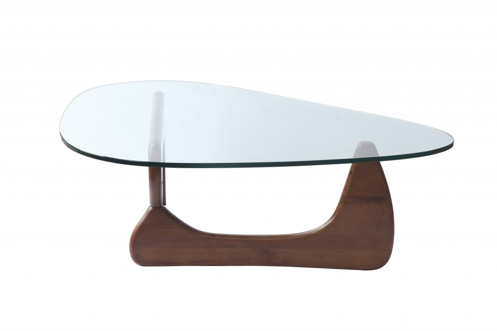 Walnut Wood Triangle Coffee Table 5
