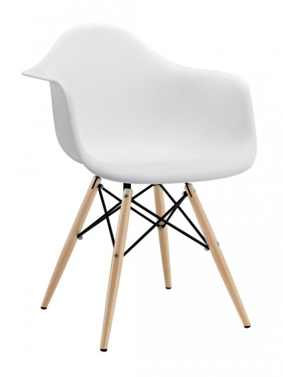 White Ceremony Wood Base Armchair e1435092926785