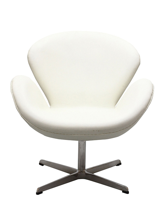 White Hug Leather Chair