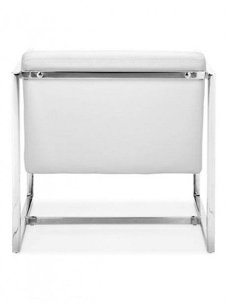 White Leather Luxe Lounge Chair 2 461x614