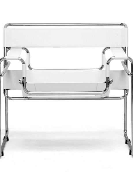White Leather Strap Chair 2 461x600
