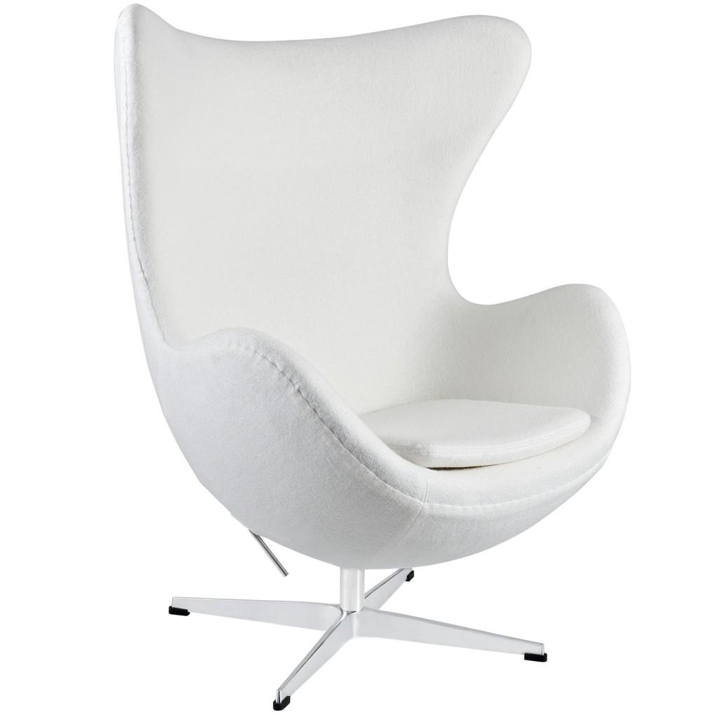 White Magnum Wool Chair