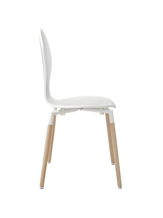 White Ombre Wood Chair 2