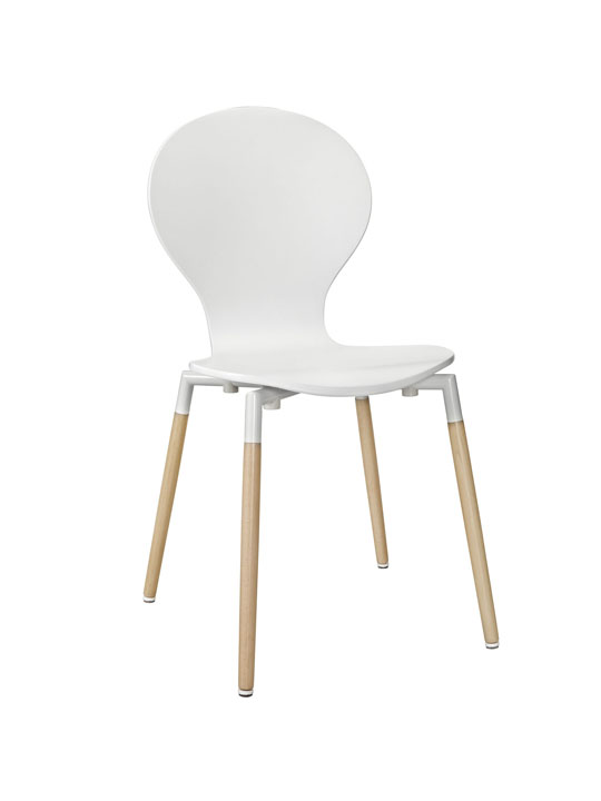 White Ombre Wood Chair
