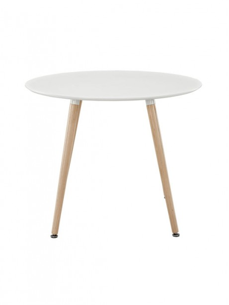 White Ombre Wood Circle Dining Table 2 461x614
