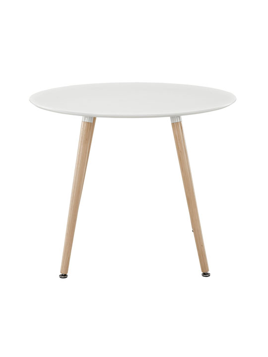 White Ombre Wood Circle Dining Table 2