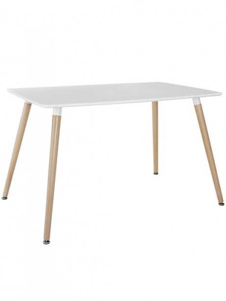 White Ombre Wood Rectangle Dining Table 461x614