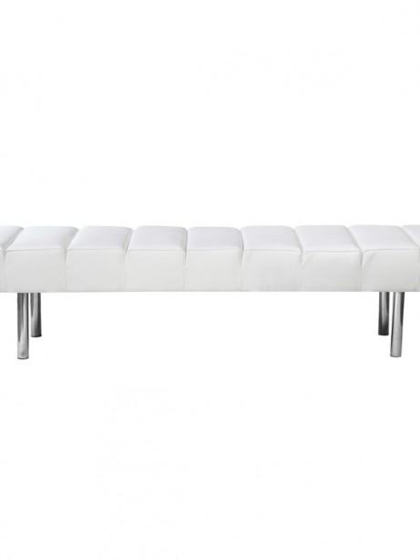 White Paragon 3 Seater Bench 3 461x614