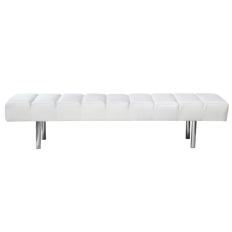 White Paragon 3 Seater Bench 3