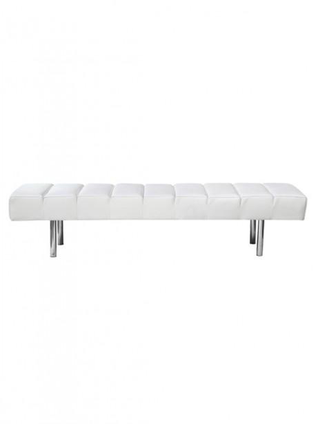 White Paragon 3 Seater Bench1 461x614
