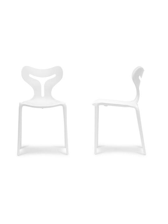 White Plastic Y Chair 2