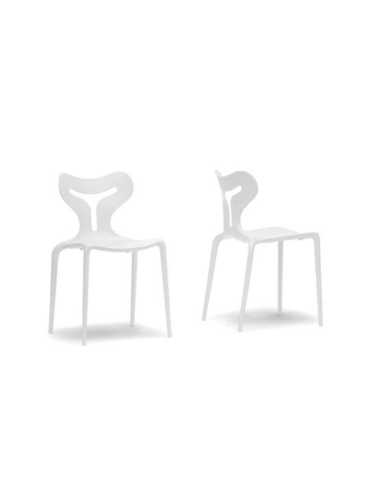 White Plastic Y Chair 3